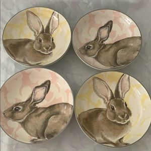 Williams Sonoma Bunny Dipping Bowls NWOT